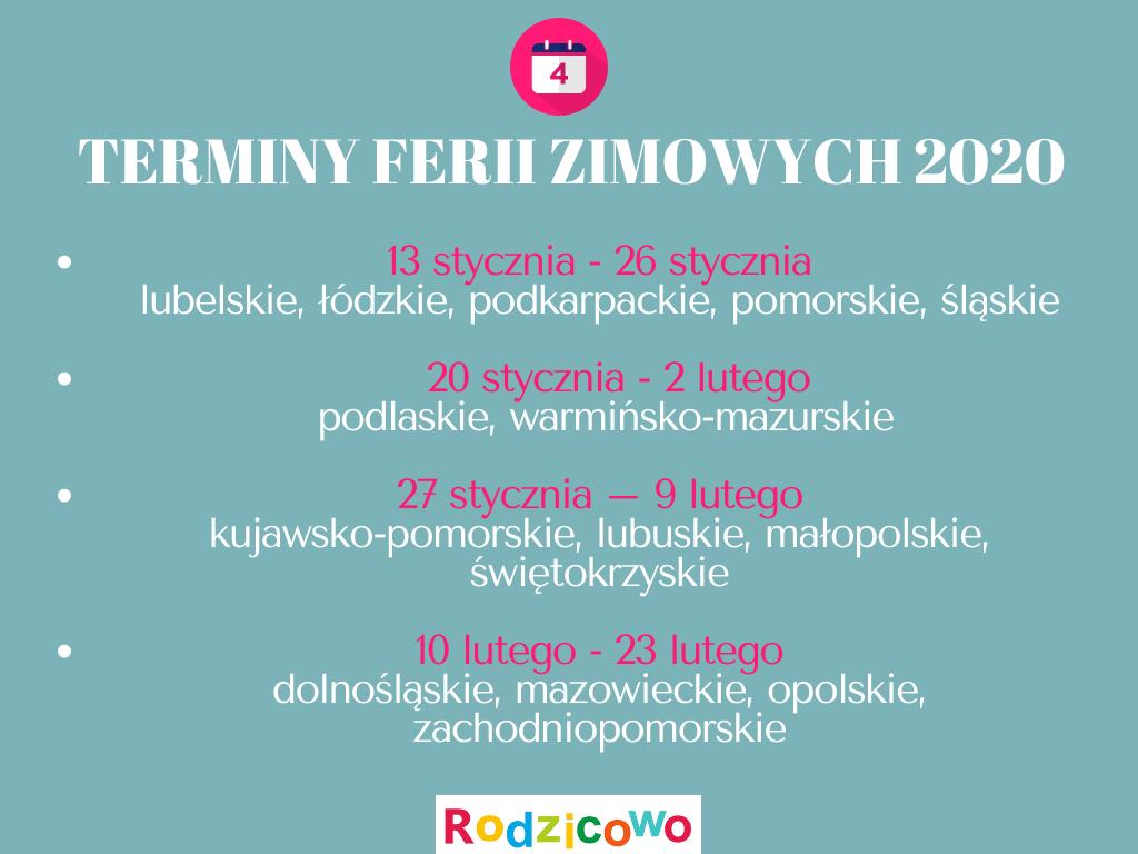 ferie zimowe 2019-2020